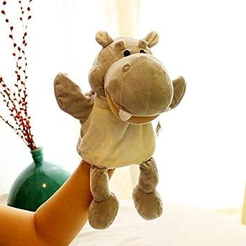 Juguete De Marionetas De Mano Guantes De Animales La Boca Se Puede Activar Juego De Muñecas De Felpa Muñeca De Mano Muñeca Muñeca Plana Puede Abrir La Boca Humo Blanco