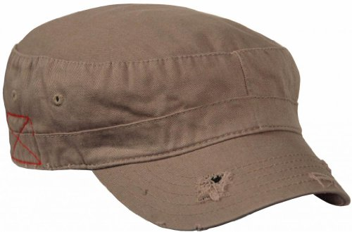 Mega Brands Castro BDU Low Profile Short Bill Military Cadet Cap Brown OSFM