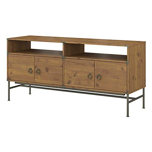 kathy ireland Home by Bush Furniture Ironworks 60W TV Stand in Vintage Golden Pine