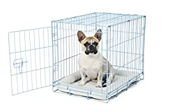 Carlson Blue Secure & Compact Single Door Metal Dog Crate, Small