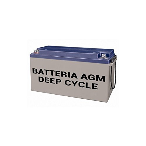 PuntoEnergia Italia - AGM Battery Deep Cycle 38Ah 12V Off-Grid Solar System Electric Vehicles Marine - DEEP38-12