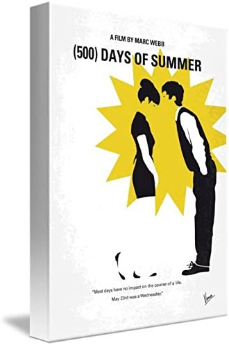 500 Days Of Summer Stretched Canvas Print Wall Art Deco ~ More Size
