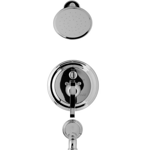Lm20s Pc - Graff G-7165-LM20S-PC Bali Traditional Pressure Balancing Tub and Shower Set, Polished Chrome