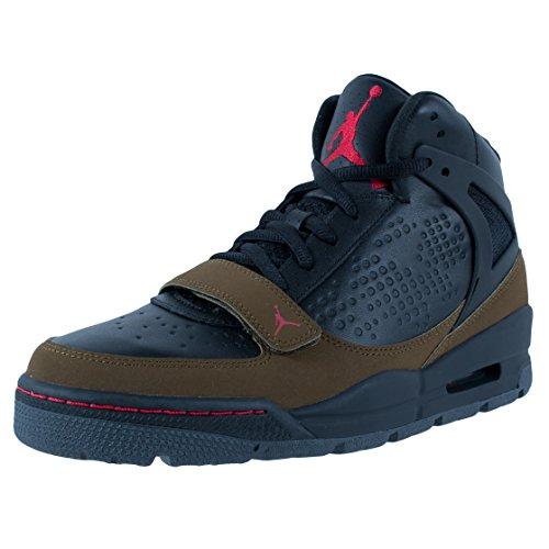 Nike Men's NIKE JORDAN PHASE 23 TREK BOOTS 10 (BLACK/TR RED-LGHT OLV/DRK GRY)
