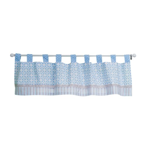 Trend Lab Logan Window Valance, Blue (Dot Circle Valance)