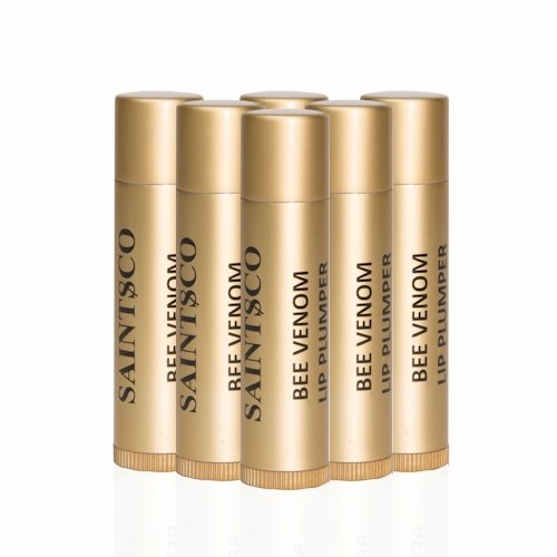 Saintsco Bee Venom Lip Plumper, Best Lip Balm, Lip Moisturizer, Lip Enhancer - Get Fuller, Sexier Lips Without Injections 4.5g X 6 by Saintsco