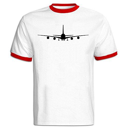 airplane-male-baseball-tee-shirt-red