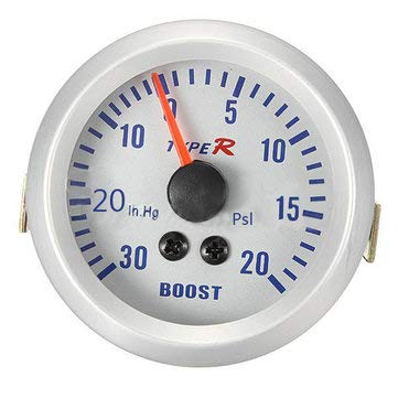 - Car Electronics Car Electronic Gadgets - 52mm Autometer Phantom Pointer Vacuum Meter Gauge White - 1 X Boost Gauge 1 X PVC Hose(6 feet) 1 X T-Fitting 1 spa