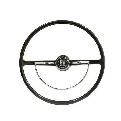 Empi Stock VW Design Replacement Black Steering Wheel Kit T-1, GHIA, Type-3 - Steering Vw Wheel Bug