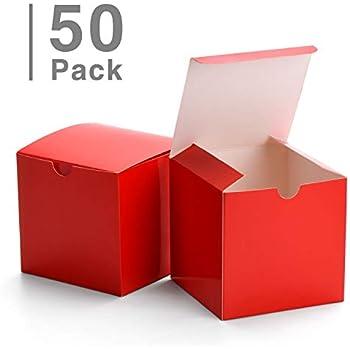 Amazon.com: GSSUSA 50 cajas de papel kraft rojas para ...