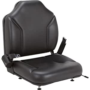 Direct-Fit Seat for Clark Forklifts - Black, Model# 8055