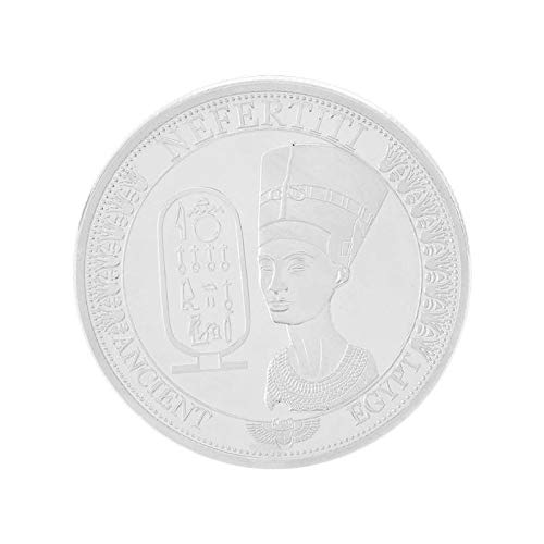 Non-currency Coins - Egypt Cleopatra Gold Plated Egyptian Queen Nefertiti Commemorative Coin Bitcoin Collectible Souvenir - Robe Egypt Coin Pendant Camp Cleopatra Costum Hike Bit Coins Decor Coin]()