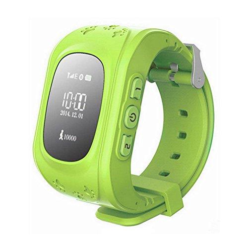 Kinder watch - TOOGOO(R) GPS Tracker Uhr Smartuhr Anti-Verschwunden Kinder Smartwatch, fuer Android und iPhone (Gruen)