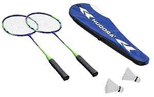 Hudora Badmintonset Winner HD-33, 76409 (2 Schläger, 2 Federbälle mit Korkkopf)
