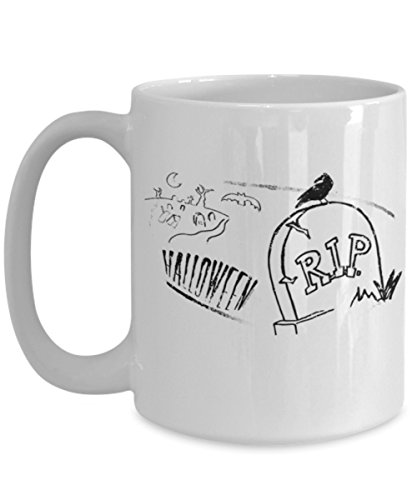 Unique Happy Halloween Shirt Gravestone Headstone Mug Coffee
