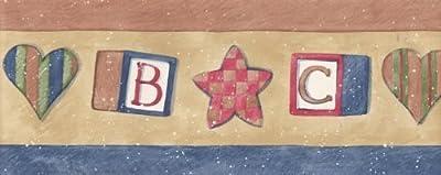 ABC Wooden Cubes Wallpaper Border75924 SU