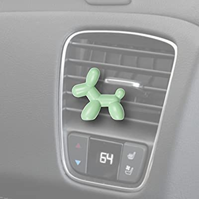 Little Pup 96606 Fresh Mint Scent, Car Air Freshener, Clips to A/C Air Vent, Alcohol-Free Fragrance Oil, Non-Hazardous and Non-Toxic Plastic, Set of 1: Automotive