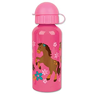 Stephen Joseph Stainless Steel Water Bottle, Girl Horse