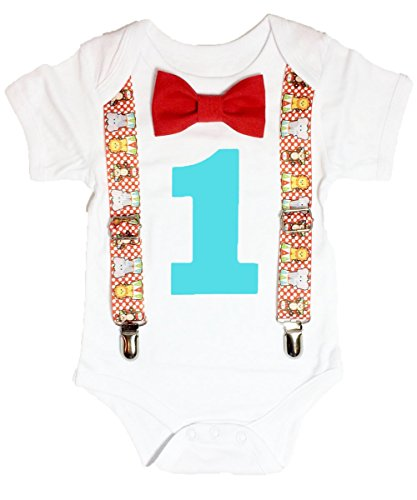 Noah's Boytique Baby Boys 1st Birthday Circus Carnival Outfit 12-18 Months