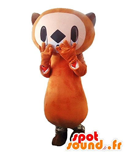 Ijirakko YURU CHARA Spotsound Mascot. Brown and white beaver YURU CHARA Spotsound Mascot