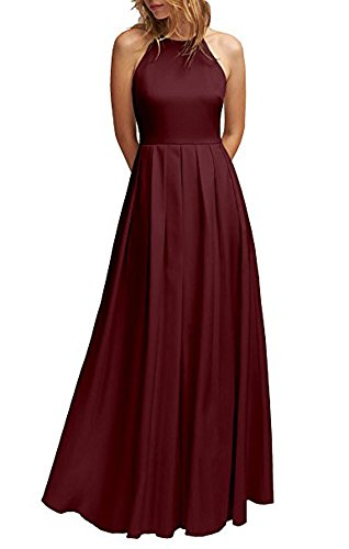 Leader Beauty of Dunkelrot Damen the Kleid H0HrwAq