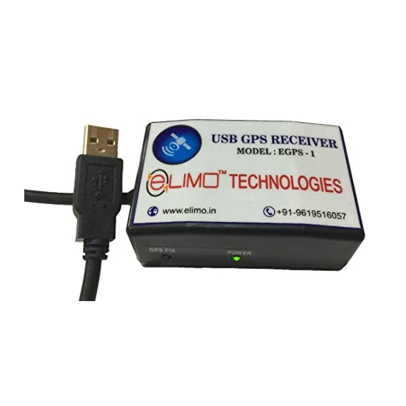 ELIMO AAdhar Uidai Approved USB GPS Receiver (Black)
