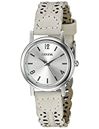 Geneva Women's FMDX296C Analog Display Japanese Quartz White Watch