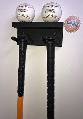 Amazon.com: Bate de béisbol de visualización rack soporte de ...