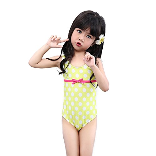 5406c47e BERTERI One-Piece Cute White Dots Swimsuit Bathing Suits Bikini Swimwear  for Baby Girls/