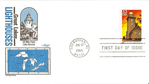 USA First Day Cover 1995 -30 Mile Point Lake Ontario Sc# - Mils Ontario