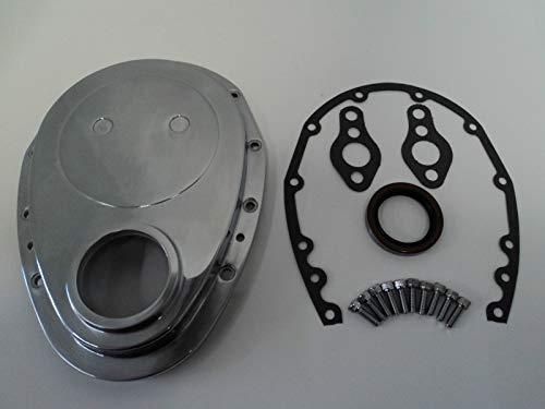 (AAA+ U.S.A. SBC Polished Aluminum Timing Chain Cover Fits SB Chevy 283 305 327 350 383 400)