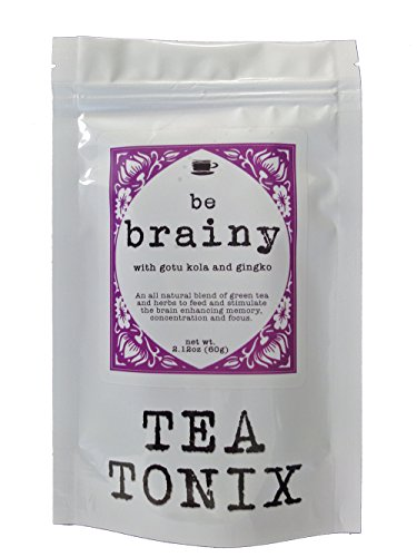 BE BRAINY Tea for Mental Clarity with Gotu Kola, Hawthorn Berries, and Gingko 60g – to Help Enhance Memory, Concentration, and Focus by Tea Tonix For Sale