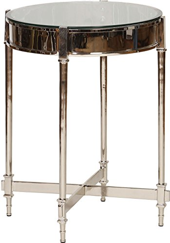 Knox and Harrison Round Side Table - Nickel