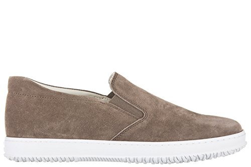 Hogan Heren Suède Slip Op Sneakers H168 Bruin