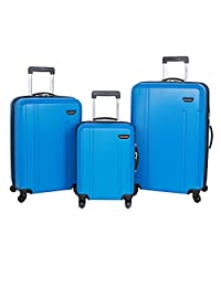 "Ricardo 'Florence' 19"", 24"" & 28"" 3-Piece Expandable/Upright Spinner Suitcase Set (Blue)"