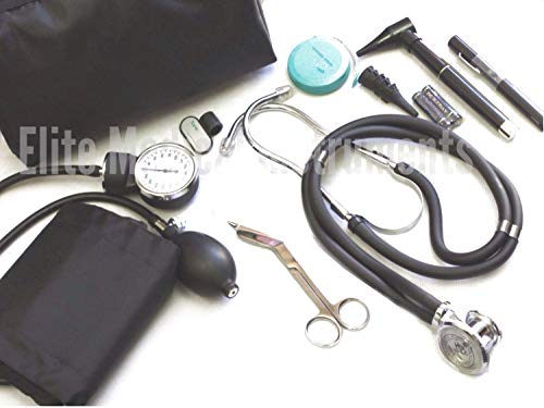 EMI Nursing Essentials Starter Kit Stethoscope Blood Pressure Monitor and More - 9 Pieces Total