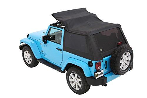 Bestop-56852-35-Black-Diamond-Trektop-for-2007-2018-Jeep-Wrangler-JK-2-Door