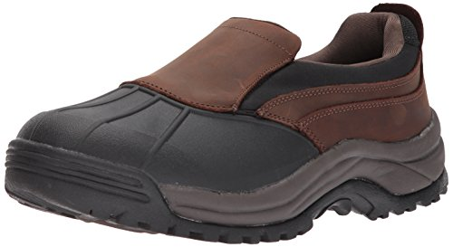 Propet Men's Blizzard Slip-on Snow Boot, Brown/Black, 11 5E US