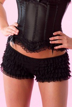 Velvet Kitten Sexy Boy Short Panties for Women with Ruffles and Bow