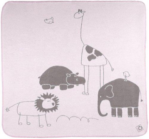 Kushies Baby Safari Blanket, Pink (Kushies Cotton Blankets)