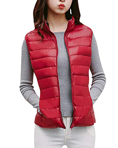 Women's Quge Weight Wear Double Packable Winered Ultra Light Sided Down Vest drwqx1Pr