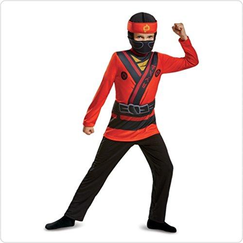 LEGO Ninjago Movie Boys' Kai Jumpsuit Classic Costume Medium 8-10