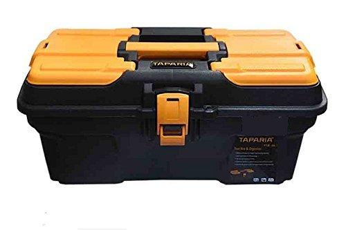 Taparia Plastic Tool Box with Organizer (PTB16) Black: Orange product image