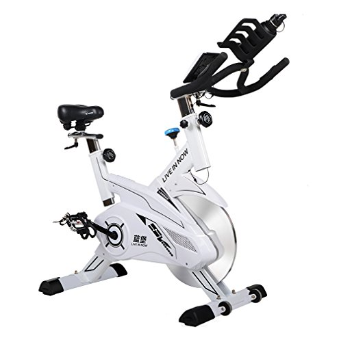 L-NOW Fitness Indoor Cycling Bike Stationary Trainer Exercise Bike, White L NOW