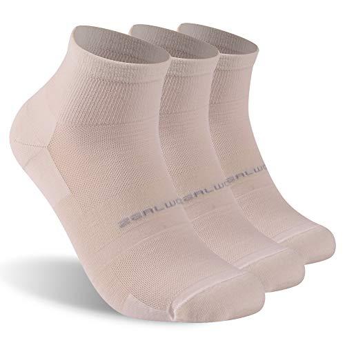 Merino Wool Socks, ZEALWOOD Anti Blister No Show Running Socks Women and Men Kids Athletic Socks