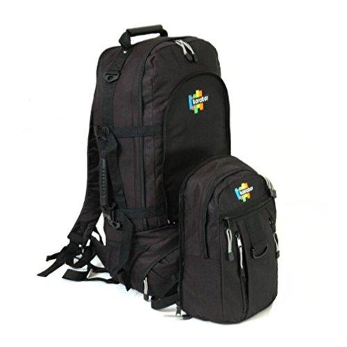 Karabar Globus Reisenden 85 + 20 Liter Rucksack mit abnehmbarem Daypa
