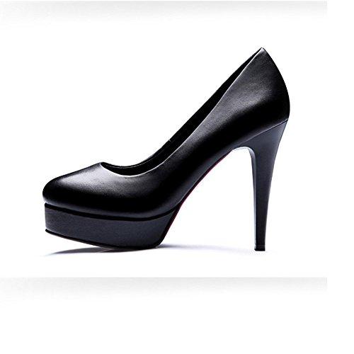 XUERUI einzelne Plattform Arbeitskleid größe UK5 Runde Heels CN38 komfortablen Schuhe gut mit High EU38 Yaguan 5 wasserdichte Flugbegleiter Schuhe rHfFxnr
