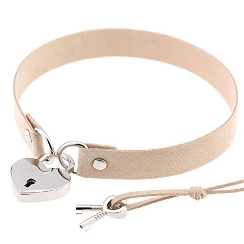 SATOSHI DUN Heart Lock Velvet Pu Leather Choker Necklace Gothic Punk Harajuku Collier with Key Jewelry Fashion Women Love Accessary