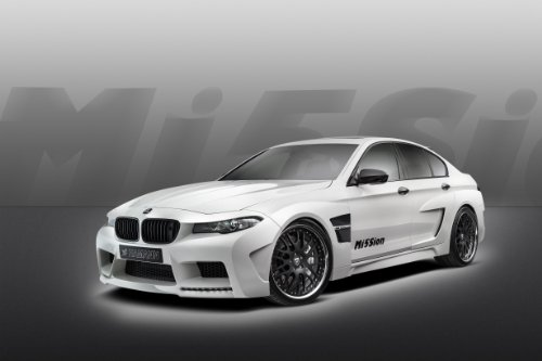 Hamann BMW M5 Mission Car Art Poster Print on 10 mil Archival Satin Paper White Front Driver Side Studio View 36