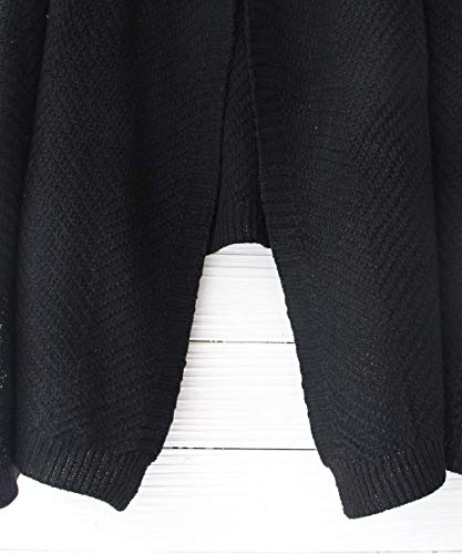 Autunno Pullover Schwarz Moda Maglia Di Giovane Manica Outwear Outerwear Confortevole Giacca Donna Monocromo A Baggy Lunga ZEq6nY